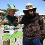 Smokey Bear, my author and me at a school fair.